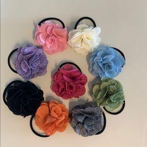 Flower Hair tie or clip (9)